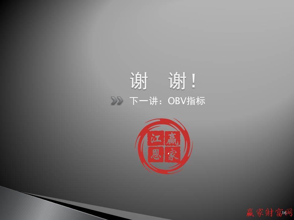 下一讲:OBV指标